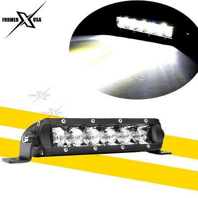 "7Inch 30w 6-LED Single Row Slim Led Light Bar Spot Fog Offroad Driving Lamp 6"""