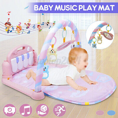 3-in-1 Baby Music Gym Play Lay Fitness Fun Light Piano Toy B
