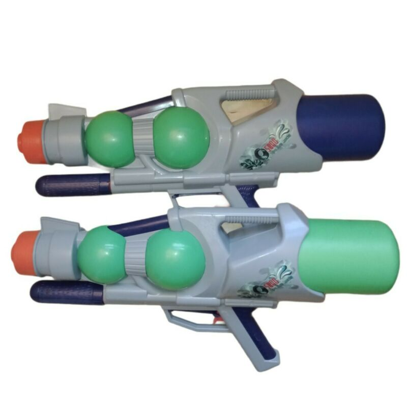 Vintage New Old Stock H20 5000 Pump Water Blaster Super Soaker Style (x2) Read