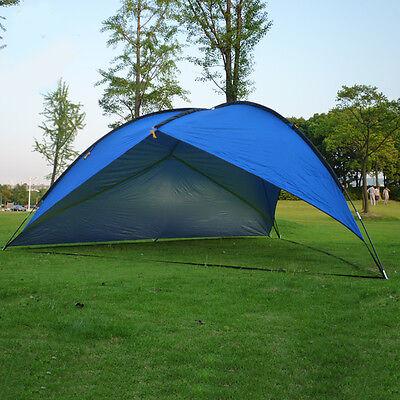 NEW 16'x16'x16' Pop Up Cabana Beach Blue Sand Tent Sun Shade Outdoor UV