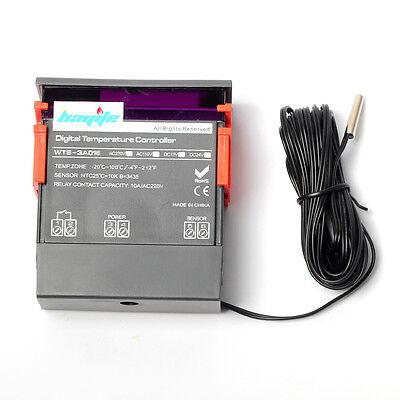 10a 110v Stc-1000 Digital Temperature Controller Temp Sensor Thermostat Control