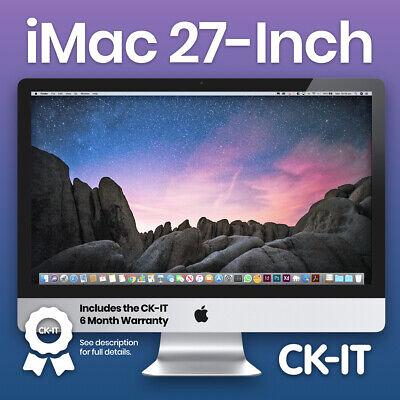 """Apple iMac 27"""" i3 3.2Ghz / 8GB Ram / 750GB HD / DVD / Warramty - ref A104"""