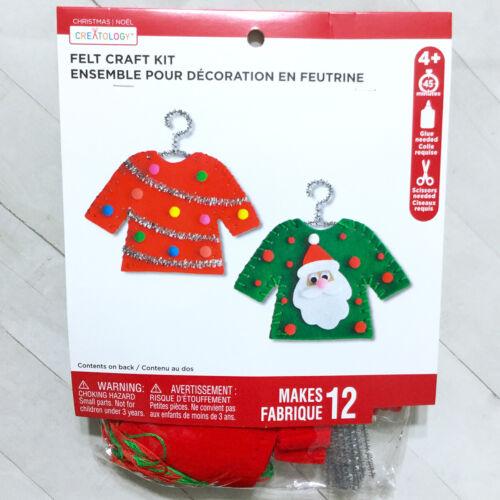 Ugly Christmas Sweater Ornament Kit Makes 12 DIY Holiday Kids Craft Santa
