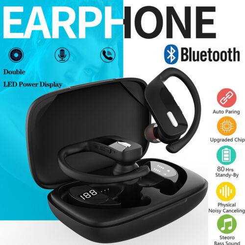 Ear Hook Bluetooth Headset 5.0 TWS Wireless Earphones Earbuds Headphones Stereo Cell Phone Accessories