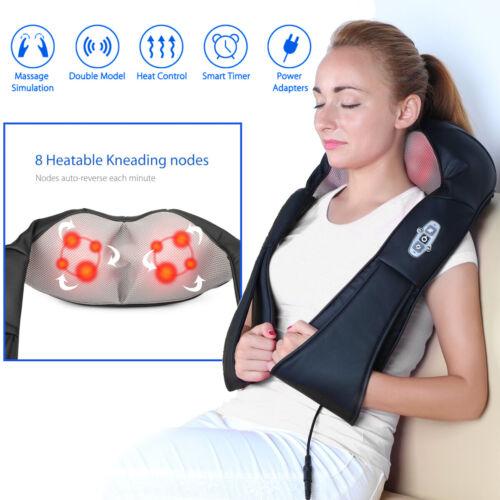 Shiatsu Back and Neck Shoulder Kneading Massager Rechargeabl