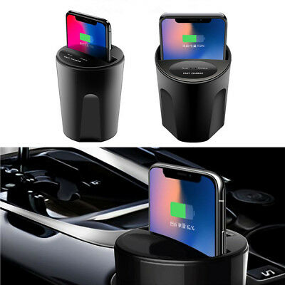 Case Car Charger Phone Holder - Qi Wireless Charger Car Cup Mount Phone Fast Charging Holder For iPhone X 8 7/6s