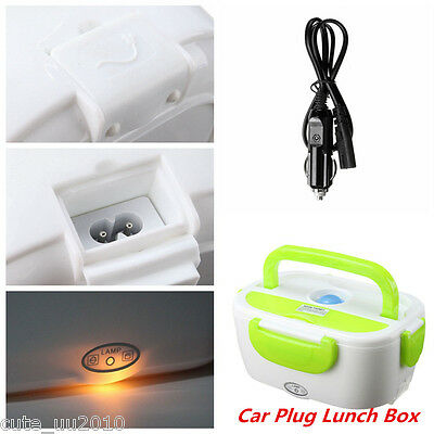 Portable Heated Lunch Box 12V Electric Heating Lunchbox Food Warmer Containers