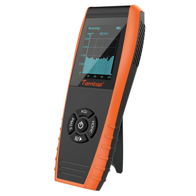 Used Temtop LKC-1000S+ Air Quality Detector PM2.5 PM10 HCHO TVOC AQI Monitor
