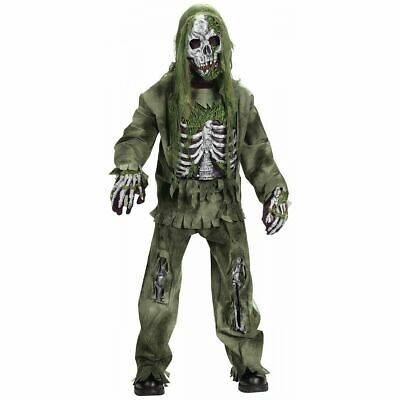 Scary Child Costumes (Skeleton Zombie Costume Kids Scary Graveyard Monster)