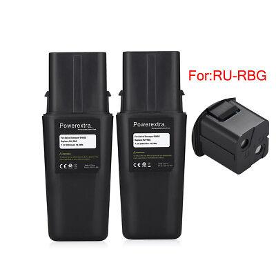 2 Pack 7.2V 2000mAh Vacuum RU-RBG battery for Ontel Swivel Sweeper G1 & G2 2 Pack 2000mah Battery