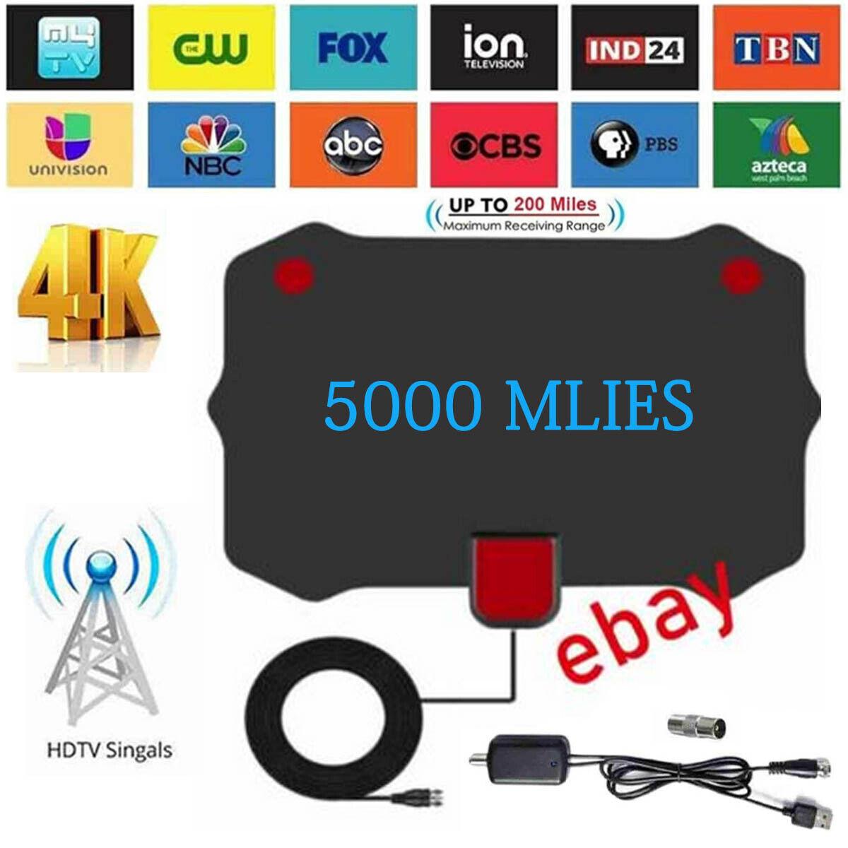 Newest Indoor Amplified Digital TV Antenna HDTV 4K 1080P Lon