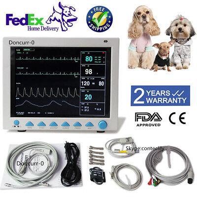 Contec Veterinary Patient Monitor Capnograph Vital Signs 6 Parameter Cms8000vet