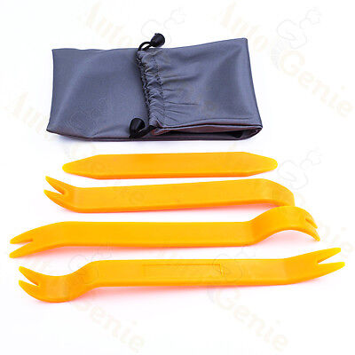 Car Radio Stereo Door Clip Trim Dash Panel Install Removal Pry Tool Plastic (Dash Panel Trim)