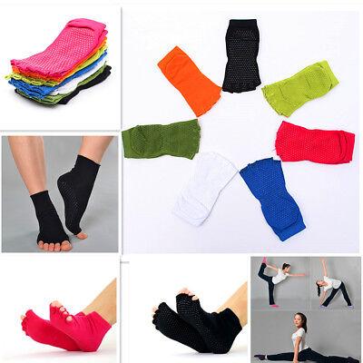 Gym Sports Non-Slip Half Toe Yoga Pilates Ankle Grip Dance S