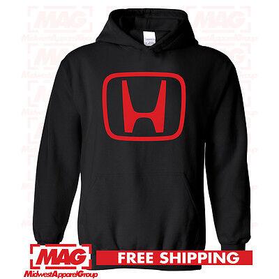 HONDA LOGO IN RED HOODIE BLACK Racing Motocross Hooded Sweatshirt CBR Moto
