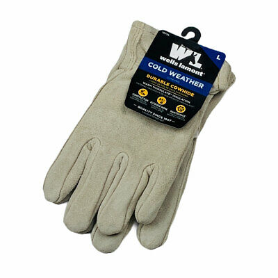 Wells Lamont Warm Thinsulate Cold Weather Leather Gloves Size Large 1072l