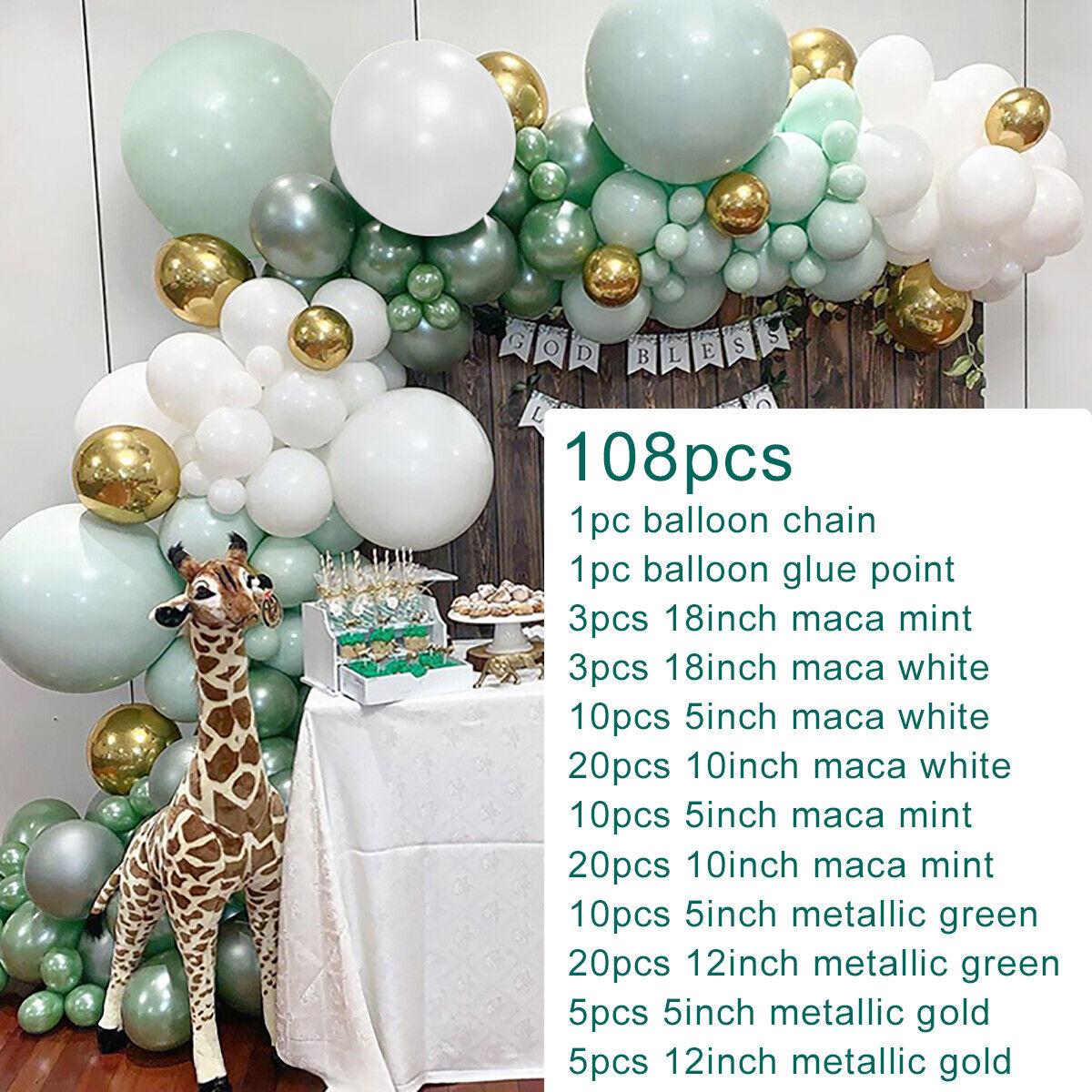 108pcs Macaron Pastel Balloon Garland Arch Kit Wedding Baby Shower Party Decor Ebay