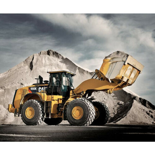 "36"" X 44"" Panel Construction Machinery Equipment Cat Cotton Fabric Panel D374.44"