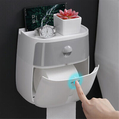 Toilet Paper Double Roll Holder Tissue Bathroom Wall Mounted Storage Hook