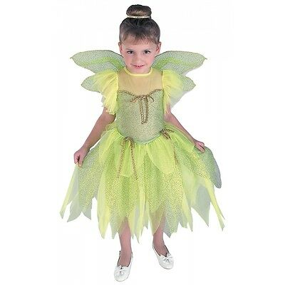 Tinkerbell Costume Toddler Kids Halloween Fancy Dress