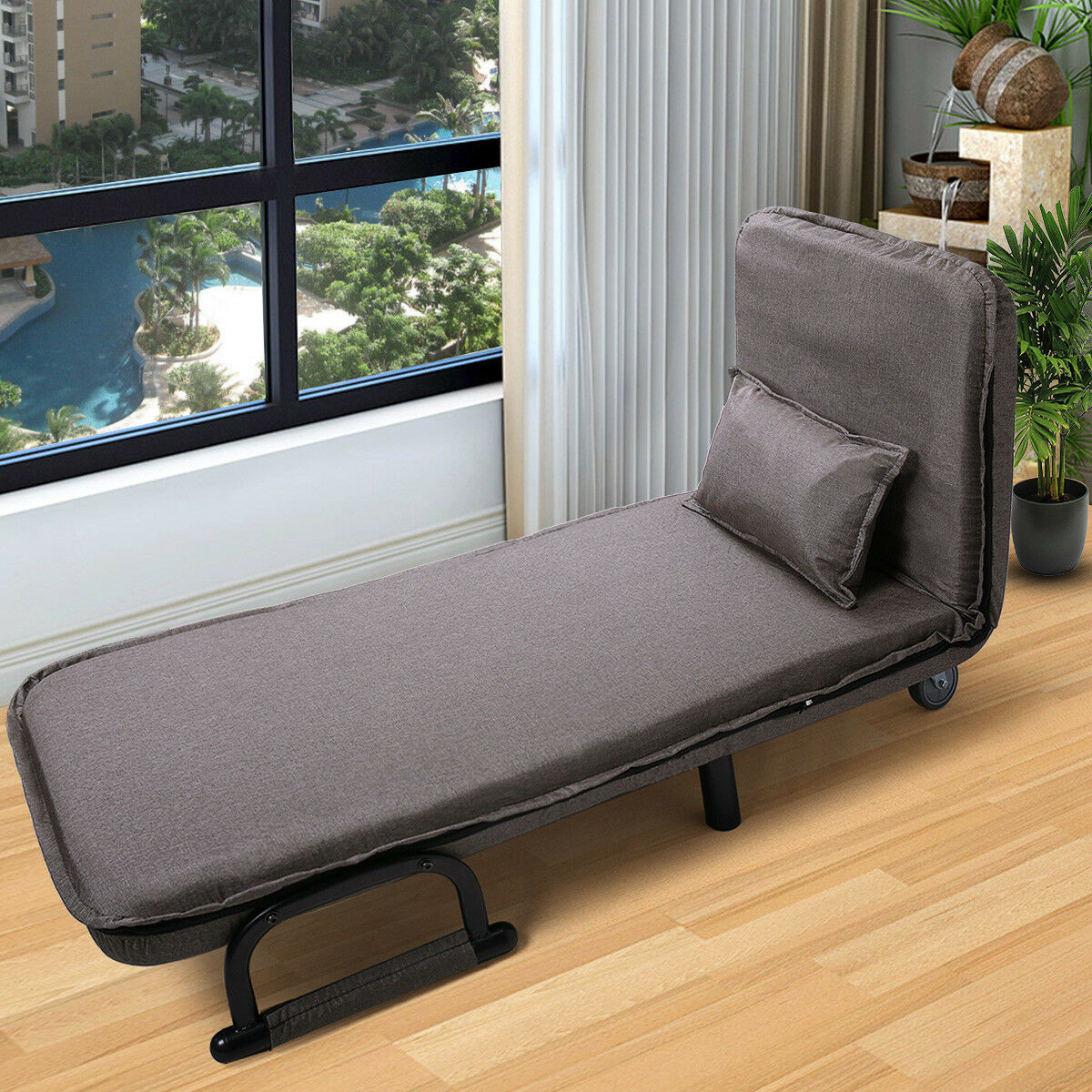 """Folding Sofa Bed Arm Chair 25.6"""" Width Convertible Sleeper Recliner Lounge New"""
