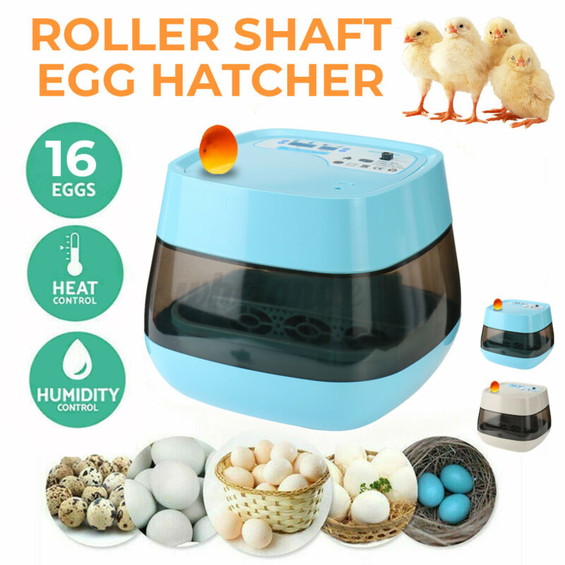 Egg Incubator 16 Eggs Fully Digital LED Automatic Hatcher for Hatching Chicken