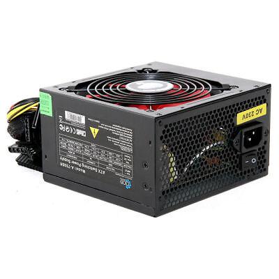 Ace Power Supply (ACE Black 750W PC Power Supply Unit Quiet 12cm Red Fan PSU ATX 6-Pin PCI-E SATA )