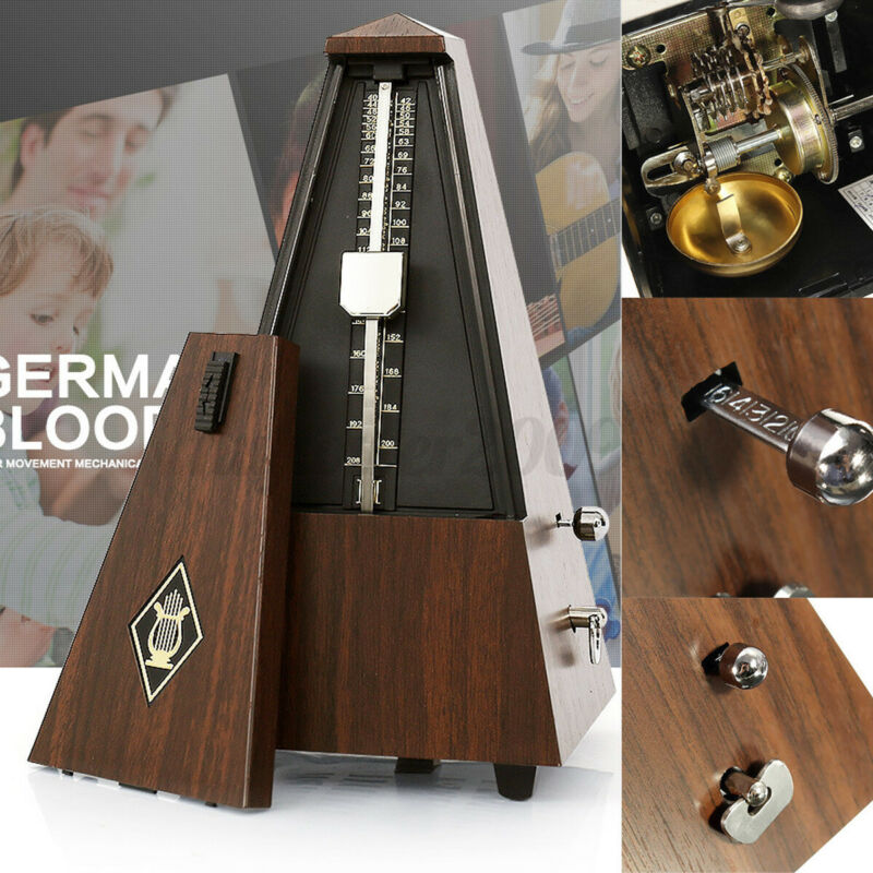 Custom Metronome Mechanic Music Timer Teak For Piano Guitar Violin Xmas Gift