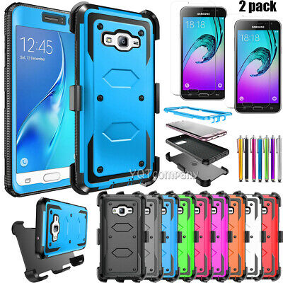 For Samsung Galaxy J3 2016 2015 Amp Express Prime Case Cover Belt Clip Screen
