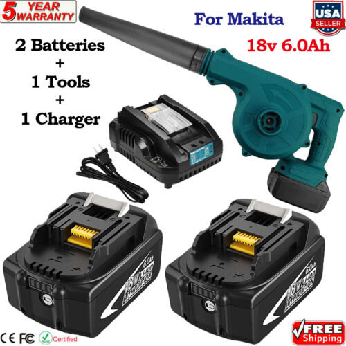 for Makita Lithium Cordless Tool 18V LXT Blower Kit with 6.0Ah Batteries Charger