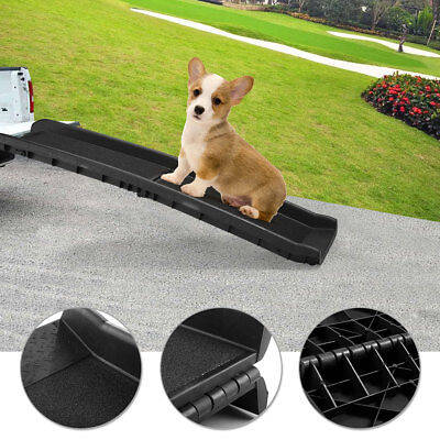 Portable Dog Ramp For Large Pet Folding Trunk Back Seat Ladder Step Car SUV 62""