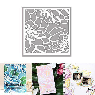 Card Decorations (DIY Embossing Folders Plastic Template Die Cutting Scrapbooking Album Card)