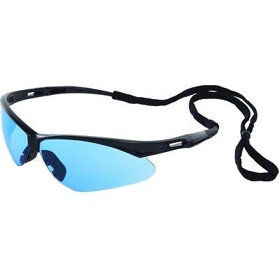 Erb Octane Safety Glasses With Light Blue Lens And Black Frame