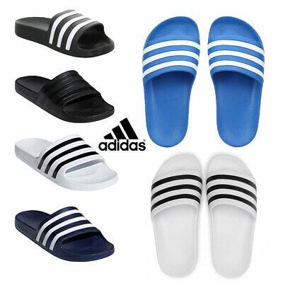 Adidas Slides Mens Womens Sliders Adilette Aqua Beach Flip Flops Sandals