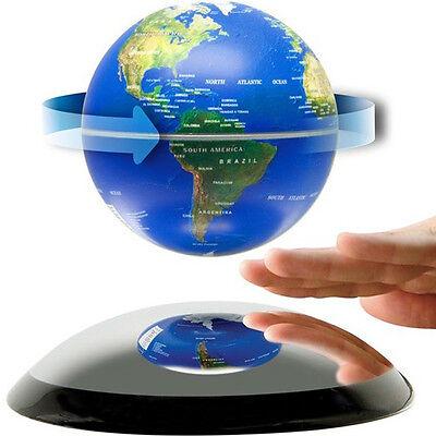 6 inch Magnetic Levitation Floating Globe World Map Blue Birthday Gift Decro