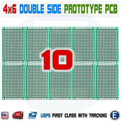 10pcs 4x6cm Pcb Universal Prototype Matrix Double Sided Protoboard Blank Board