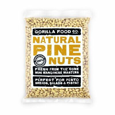 Natural Nut (Gorilla Food Co. Natural Pine Nut Kernels - 8oz Resealable Bag )