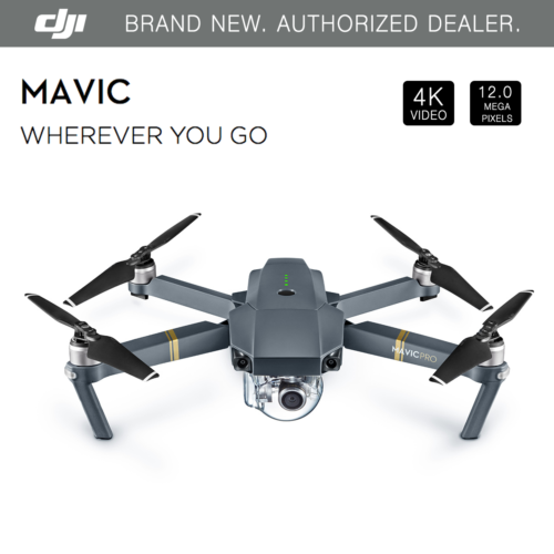 New DJI MAVIC PRO w 12MP 4K Stabilize Camera, Active Track,