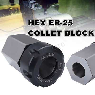 Er-25 Hex Collet Block Chuck Collet Holder Square For Lathe Engraving Machine