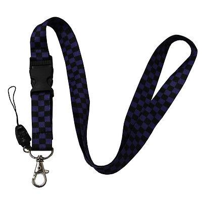 Wholesale Lanyard 12 lots Key Strop ID Holder Purple Check](Lanyards Wholesale)