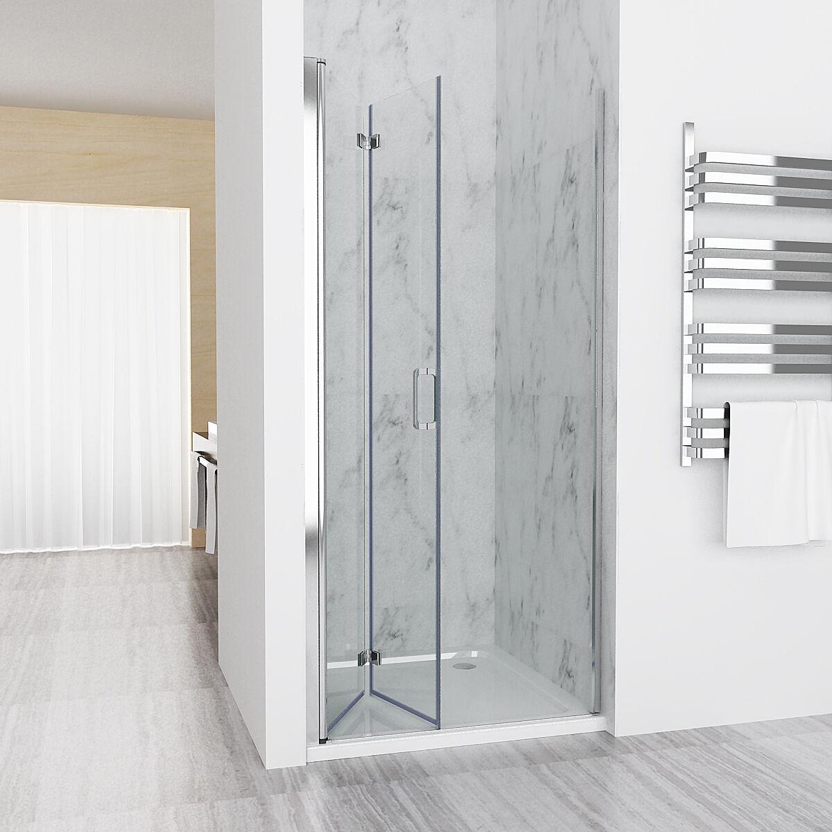 70-120 cm Nischentür Duschabtrennung Duschwand Dusche Falttür NANO Dusche ESG DA