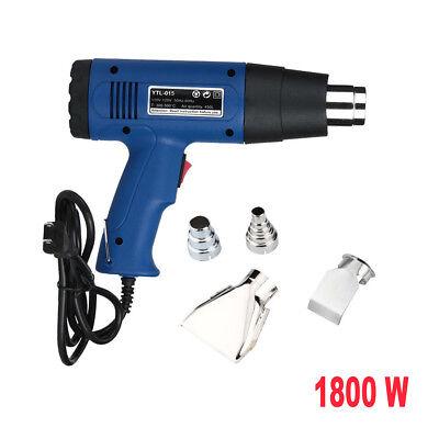 1800 Watt Dual Temperature Heat Gun w/ Accessories Shrink Wrapping US Seller