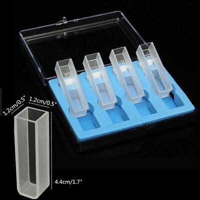 Us 4pcs 3.5ml 10mm Optical Quartz Cuvettes Cuvette Cell Spectrometer With Box