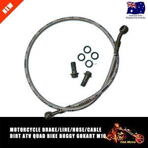 1000mm Braided Hydraulic Master Cylinder Brake Line/Hose/Cable m10 Banjo Bolt