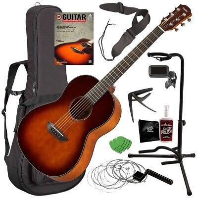 Yamaha CSF1M Acoustic Guitar - Tobacco Brown Sunburst COMPLETE GUITAR BUNDLE Acoustic Guitar Tobacco Brown Sunburst