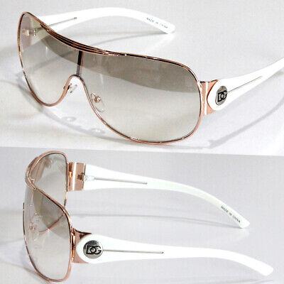 New Mens Womens Designer Shield Wrap Around Sunglasses Fashion Shades Gold (Women's Wrap Sunglasses)