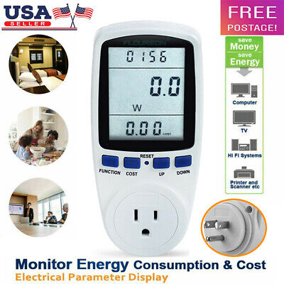 Digital Power Saving Energy Monitor Watt Amp Volt Kwh Meter Electricity Analyzer