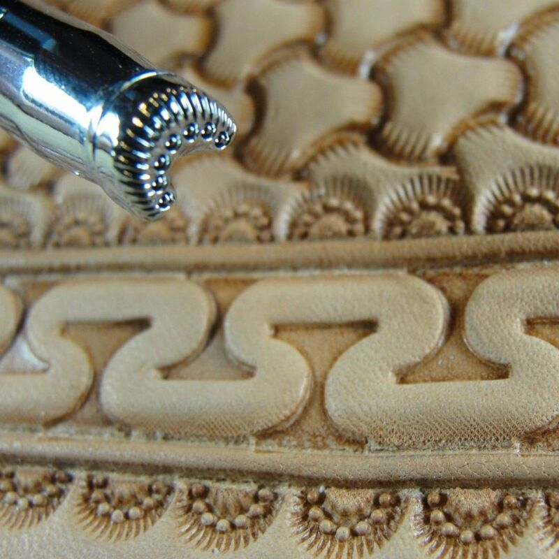 Pro Crafters Series - 7-Seed Border Stamp (Leather Stamping Tool)
