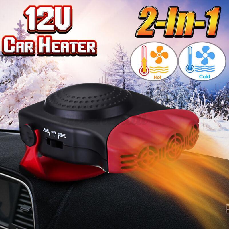 12-Volt Portable 150W Car Fan Heater Windshield Defroster Window Demister 180°