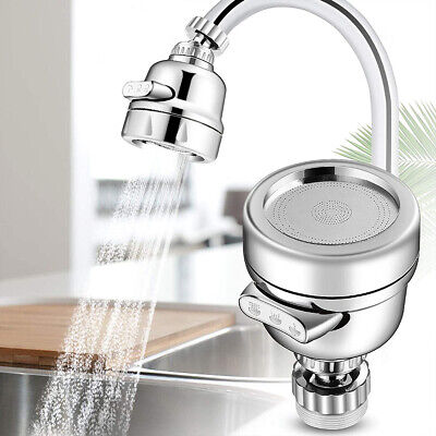 360° Degree Rotating Faucet Movable Kitchen Head Water Saving Nozzle Sprayer